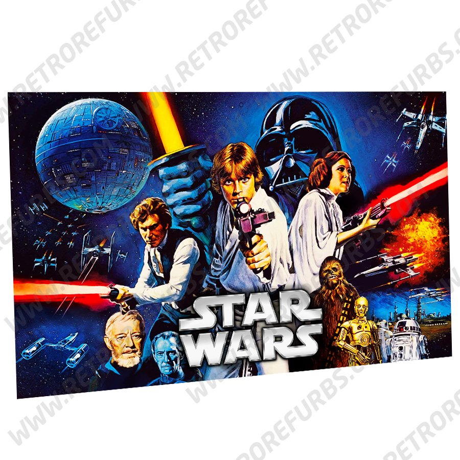 Stern Star Wars Alternate Pinball Translite Backglass Flipper Display by Retro Refurbs