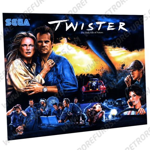 Twister SEGA Pinball Translite Original Design Flipper Backglass