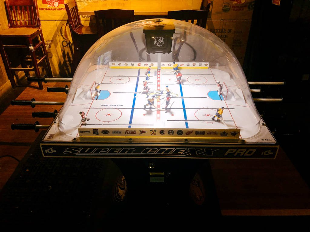 The Super Chexx hockey game