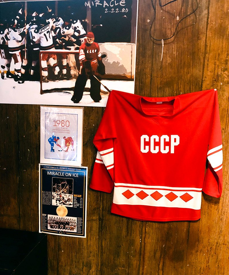 Some of the memorabilia from the 1980 game