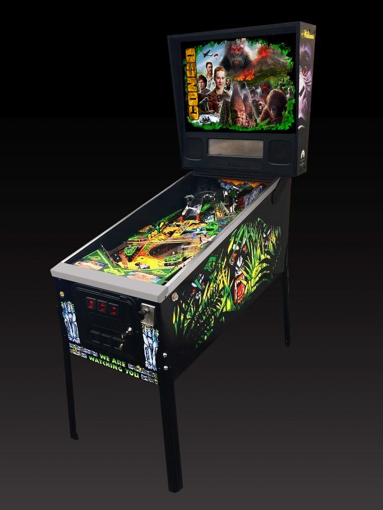 Congo Story Alternate pinball machine translite mockup