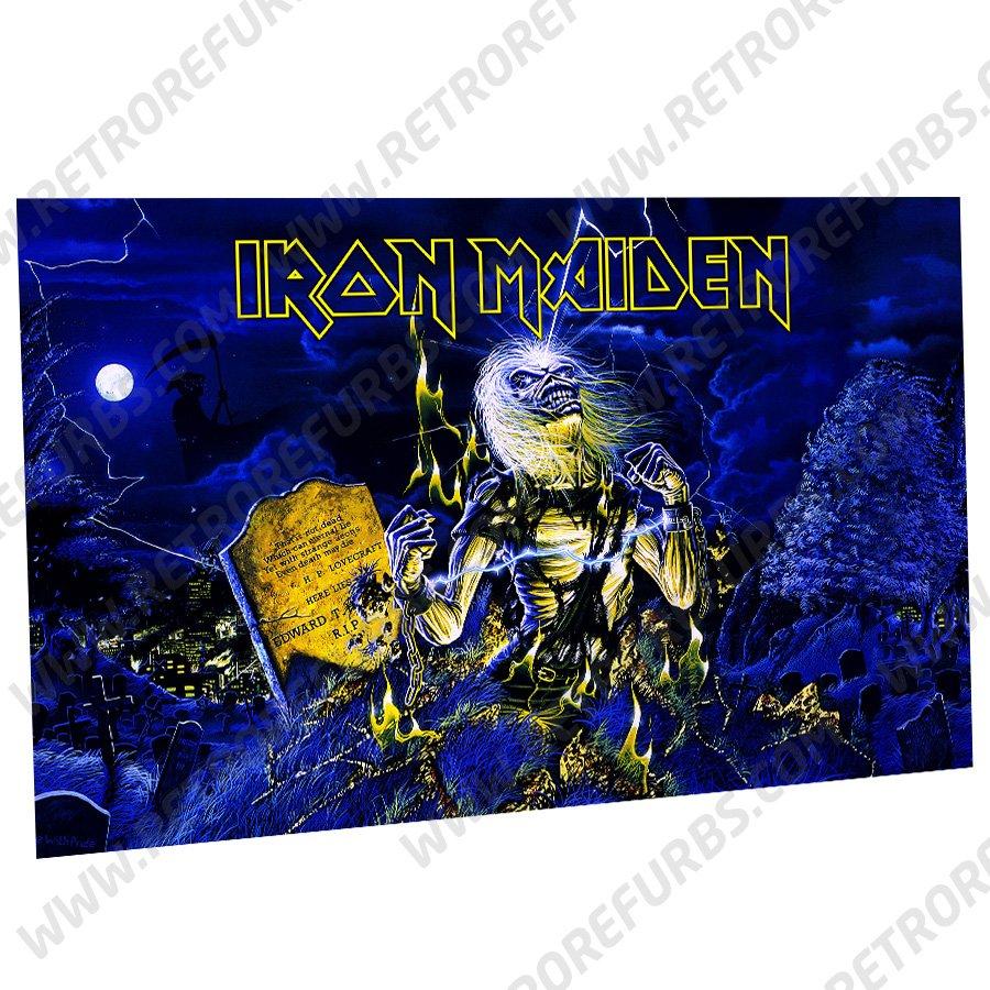Iron Maiden Live Alternate Pinball Translite Backglass Flipper Display by Retro Refurbs