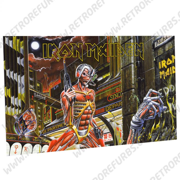 Iron Maiden Time Alternate Pinball Translite Backglass Flipper Display by Retro Refurbs