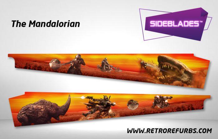 The Mandalorian Pinball Sideblades Inside Inner Art Decals Sideboard Art Pin Blades