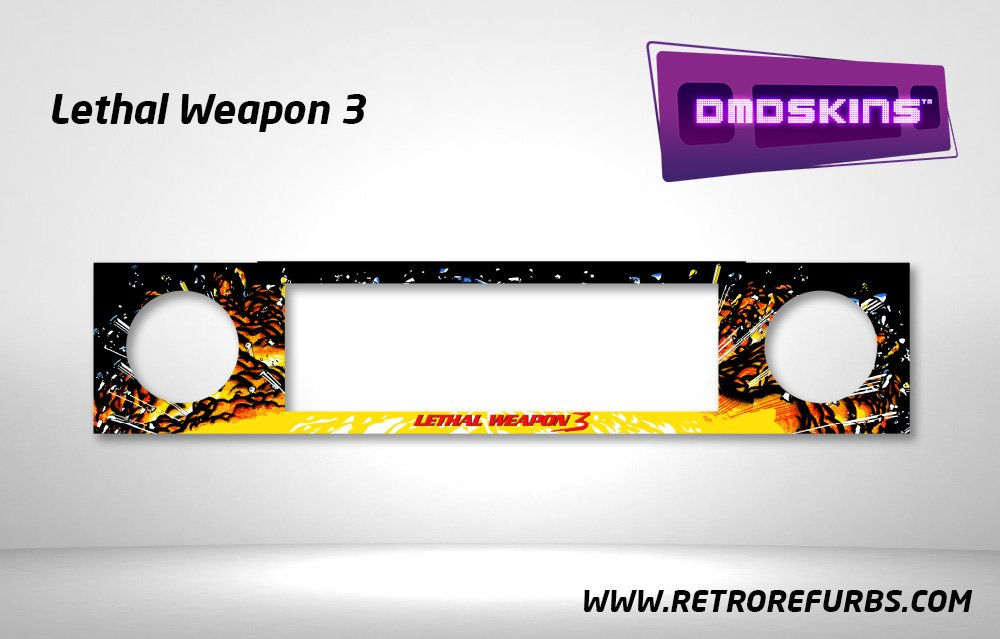 Lethal Weapon 3 Black Pinball DMDSkin Speaker Panel Overlay DMD Artwork Decal