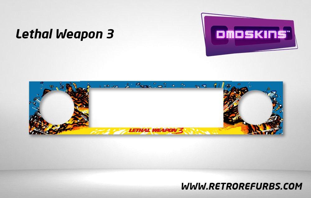 Lethal Weapon 3 Pinball DMDSkin Speaker Panel Overlay DMD Artwork Decal