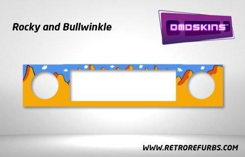 Rocky and Bullwinkle Pinball DMDSkin Speaker Panel Overlay DMD Artwork Decal