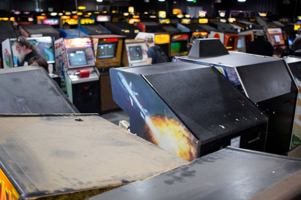 The video game room at the Museum of Pinball