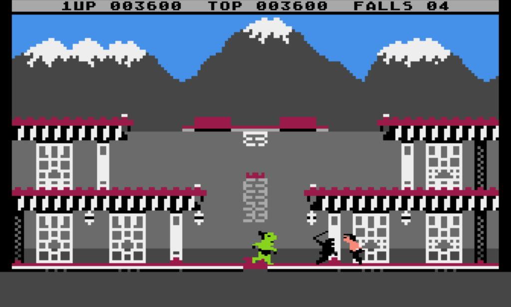 The Ninja and Yamo in Bruce Lee (Atari 8-bit)