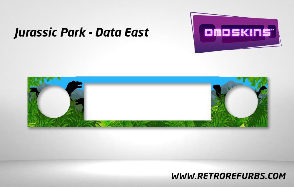 Jurassic Park Pinball DMDSkin Speaker Panel Overlay DMD Artwork Decal