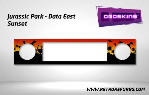 Jurassic Park Sunset Data East Pinball DMDSkin Speaker Panel Overlay DMD Artwork Decal