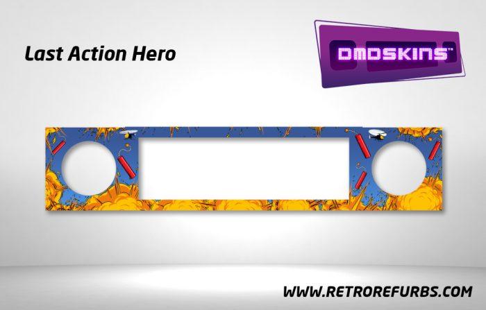 Last Action Hero Pinball DMDSkin Speaker Panel Overlay DMD Artwork Decal