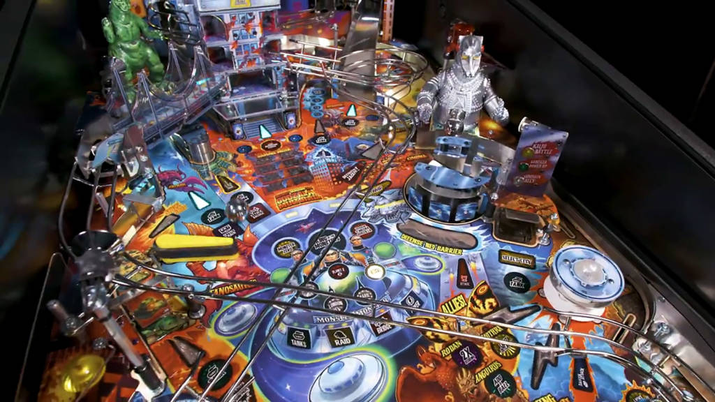 The upper part of the Premium's playfield