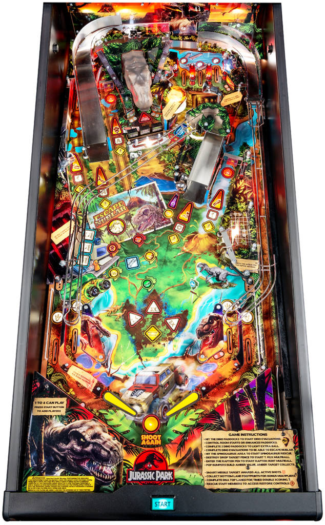 The Jurassic Park Pin playfield